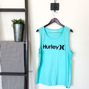 Hurley | Men's Tank Top Turquoise Size Large